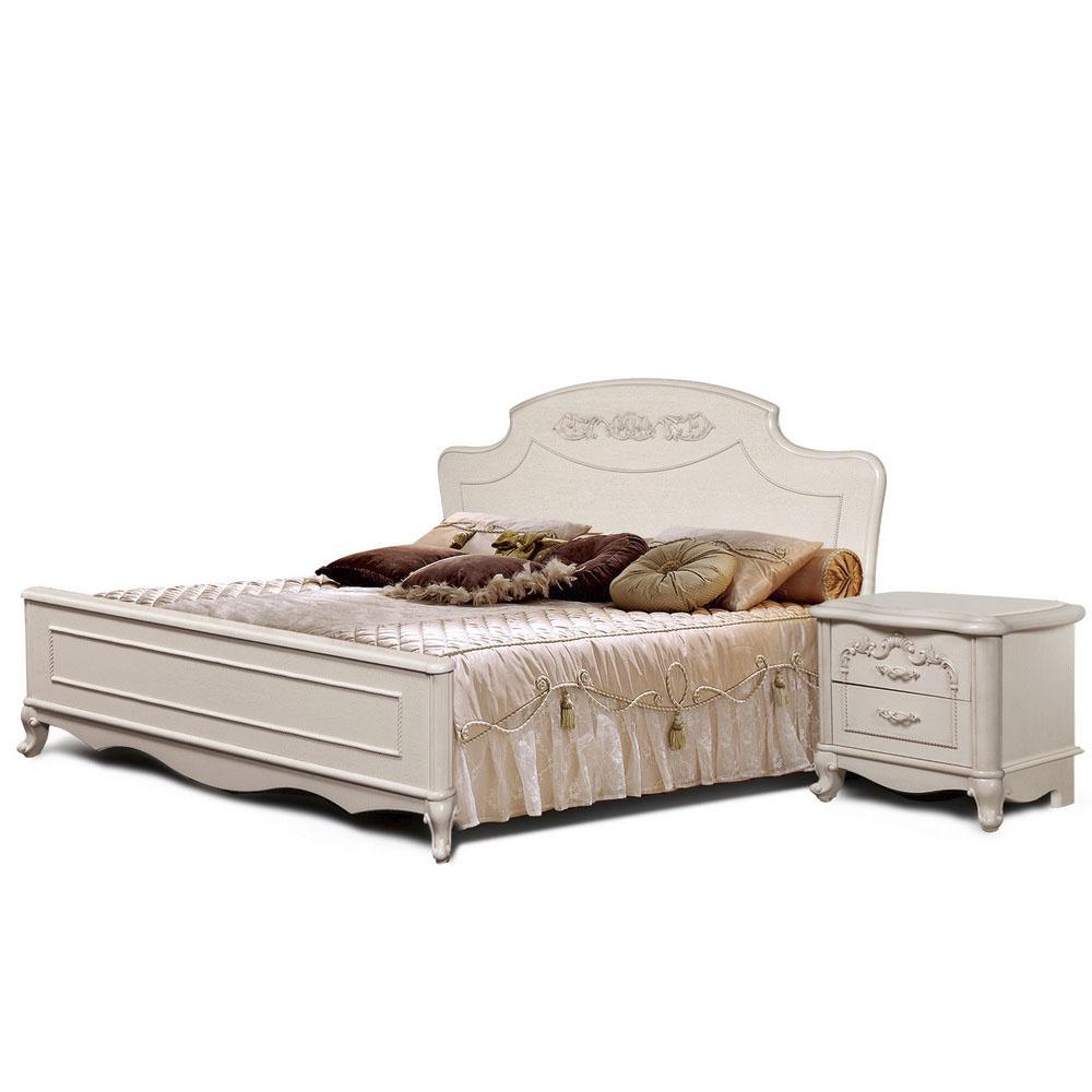 Кровать и прикроватная тумба коллекции «Валенсия»