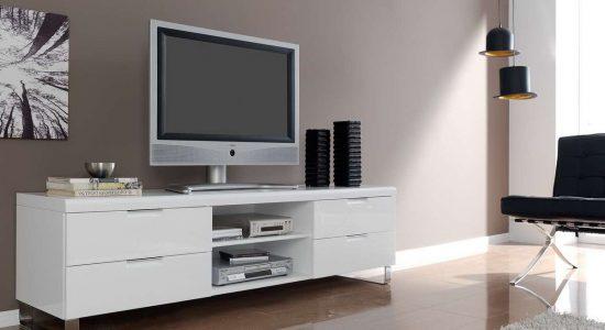 Тумбы под телевизор: материалы и конструктивные решения